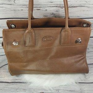 Tod's large tan leather shoulder bag